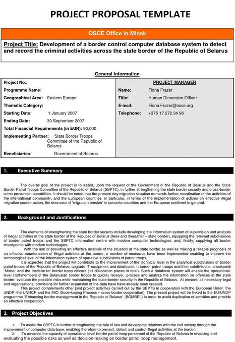 Business Project Proposal Template Business Project Proposal Template Search Results
