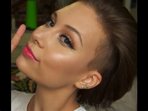 tutorial makeup glowing glowing skin coral lip makeup tutorial youtube