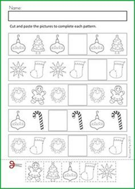 christmas pattern maths christmas nativity preschool no prep worksheets activities