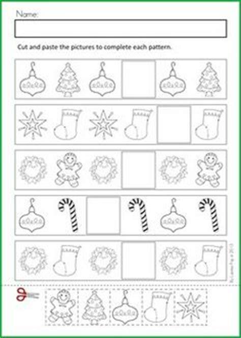Christmas Pattern Worksheets | christmas nativity preschool no prep worksheets activities