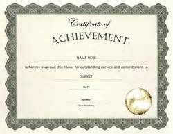 certificate of achievement word template other free certificate templates geographics