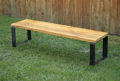wood bench with metal legs wooden bench metal legs home design ideas
