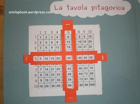 tavola pitagorica cinese le tabelline lapbook