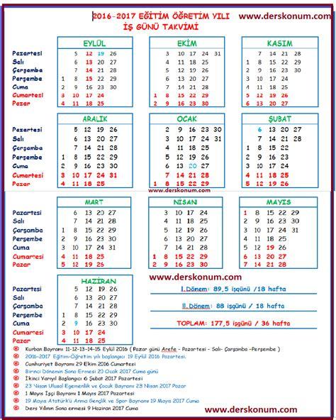 2018 Yili Takvimi 2016 2017 Akademik Takvim Meb 199 Alişma Takvimi Eğitim