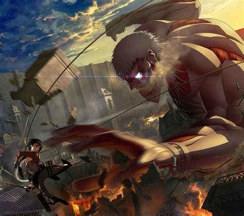 theme line android attack on titan 1440x1280 mobile phone wallpapers download 80