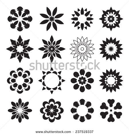 geometric flower stock vectors amp vector clip art
