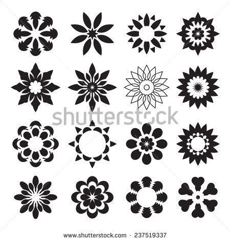 geometric flower stock vectors amp vector clip art