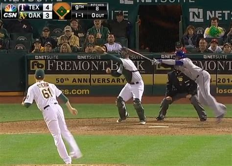 worst baseball swing ever elvis andrus valiantly protects the hit and run takes