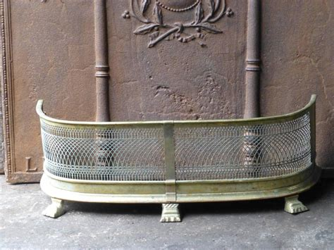 19th century fireplace fender fender for