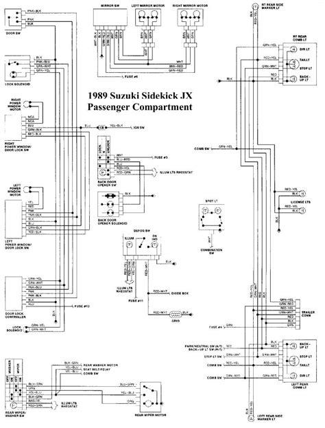 suzuki sidekick wiring diagram suzuki sidekick wiring diagram sidekick free printable wiring diagrams
