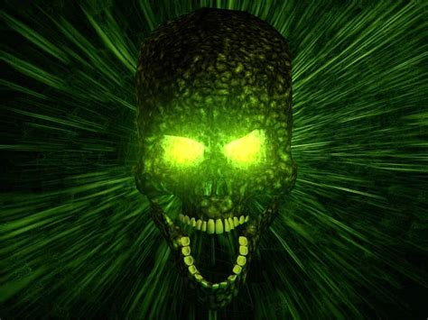 wallpaper green skull green skull wallpapers scary wallpapers