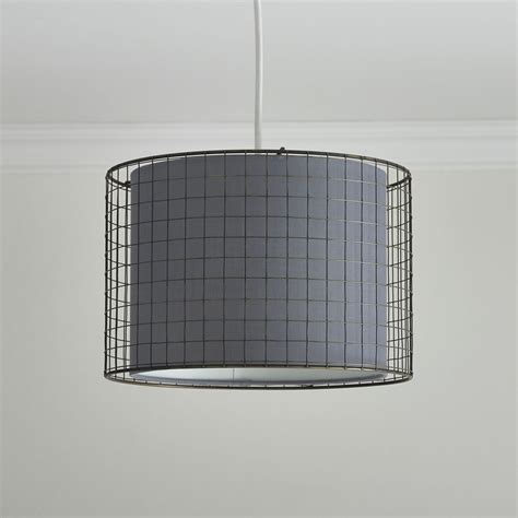 Wire Cage L Shade by Wilko Wire Cage Shade Grey