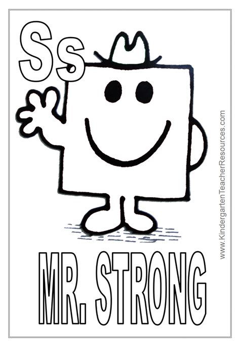 strong sheets mr men coloring pages