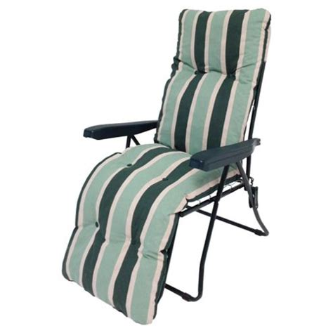 garden reclining chairs buy culcita padded reclining garden chair green from our