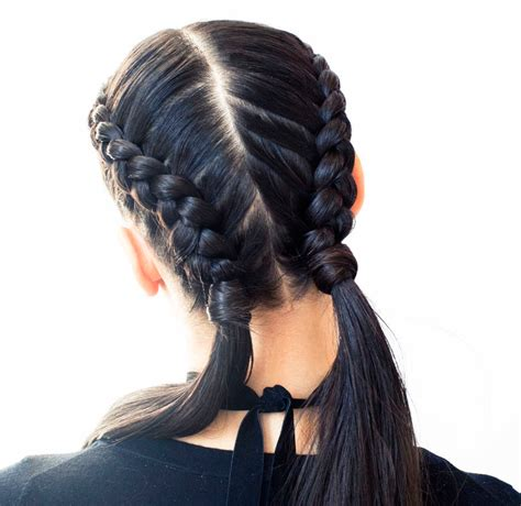 braid how tos the boxer braid aka double french braid a how to coveteur