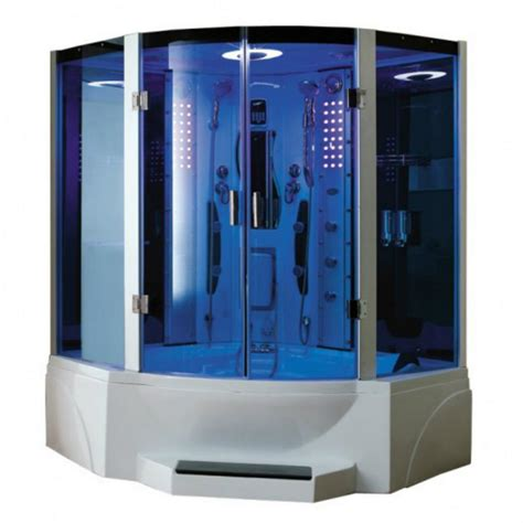 bathtub steam shower combo mesa combination steam shower with jetted tub ws 608p
