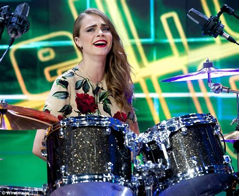 what to put on a s spot cara delevingne is put on the spot a drum kit on tv daily mail