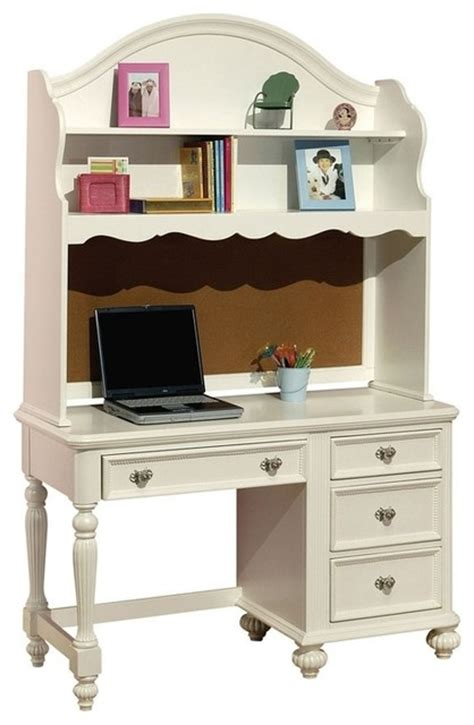 Children S Computer Desk White Kid Computer Desk And Hutch Traditional Desks And Desk Sets Los Angeles By