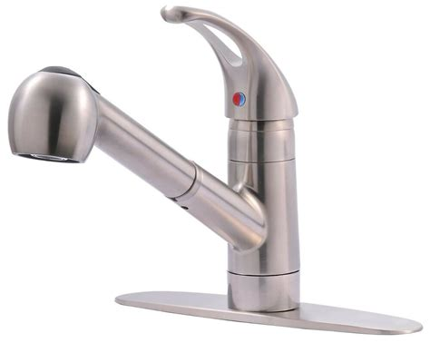 classic single handle kitchen sink faucet with pull out