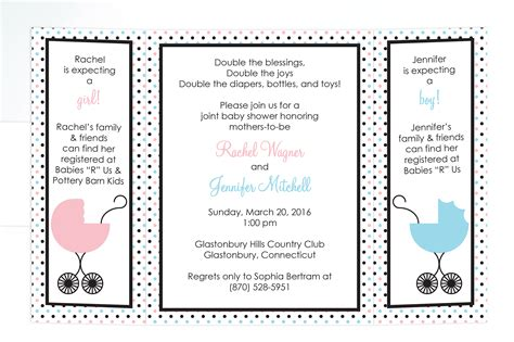 Joint Baby Shower Invitation Wording by Joint Baby Shower Invitations Cimvitation