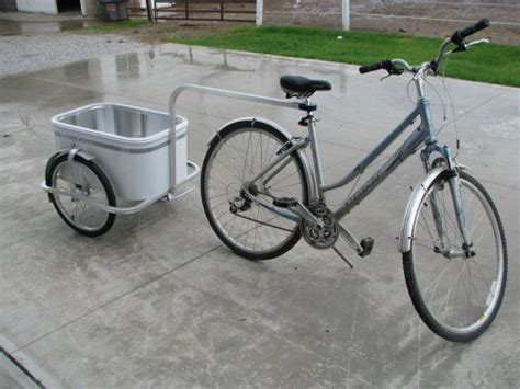 cart for bike human power use a bike trailer to transport groceries and supplies sufficientself