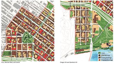 map of oregon hill richmond va downtown plan meeting monday for carver oregon hill