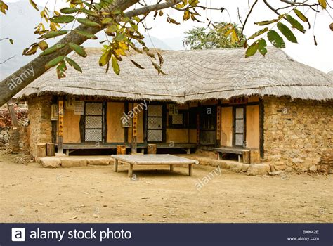 buy house in korea thatched house in naganeupseong folk village south korea stock photo royalty free