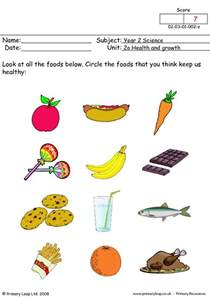 primaryleap co uk healthy foods 1 worksheet