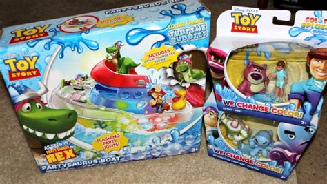 toy story bathtub party toy story partysaurus rex bath toys by mattel clever