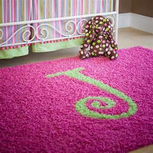 Kid Rug Solid Monogram Rectangle Rug Rosenberryrooms