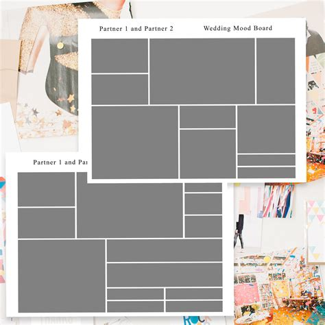 Six Moodboard Templates For Photoshop Brooklyn Floral And Event Design By Michelle Edgemont Design Mood Board Template Photoshop