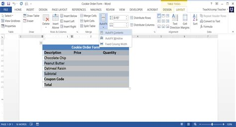 Table Row Height by Adjust Row Height And Column Width In Word Tables
