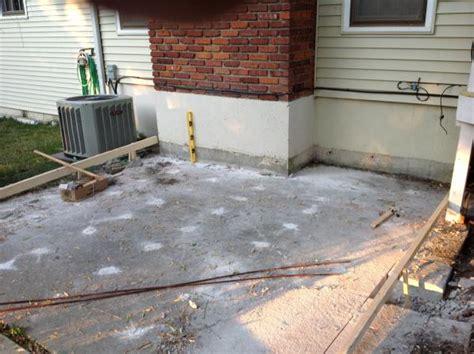 Do It Yourself Concrete Patio sunken concrete patio what to do doityourself
