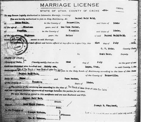 Utah Vital Records Marriage Certificate 49 Marriage Records Divorce Records Marriage Record Search How To Find Marriage