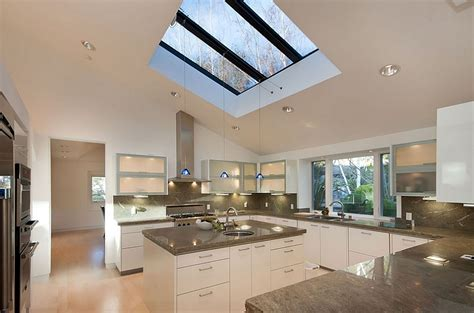 skylight design 25 captivating ideas for kitchens with skylights