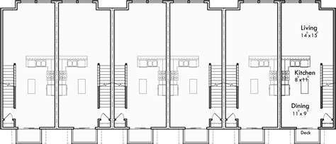townhouse plans narrow lot 6 plex house plans row house plans townhouse plans