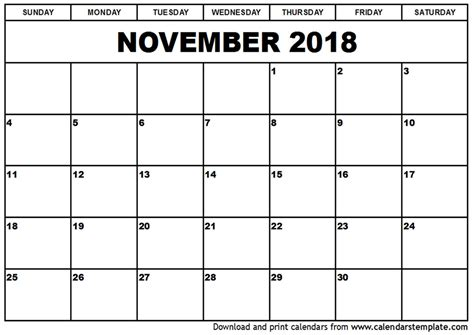 calendar design november november 2018 calendar pdf yearly printable calendar