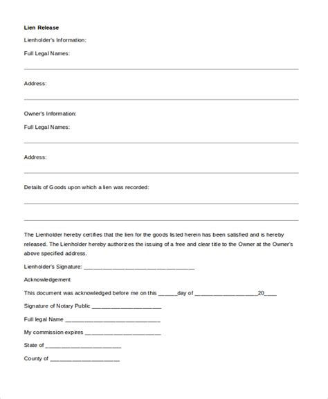 Lien Release Request Letter letter of lien release template templates resume