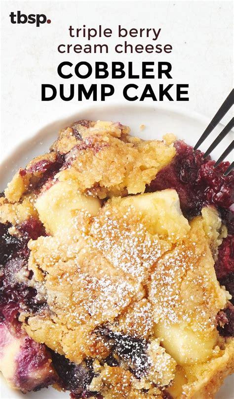 easy cobbler recipe with cake mix berry cheese cobbler dump cake recipe