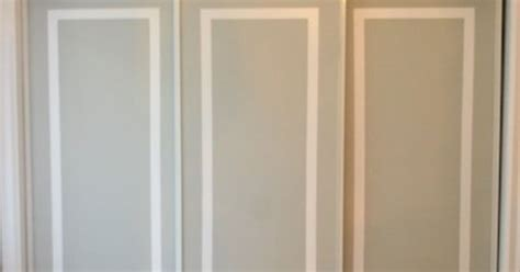 How To Paint Closet Doors How To Paint Faux Trim On Closet Doors Hometalk