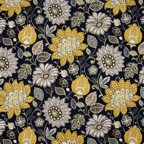 black floral upholstery fabric meteorite black floral print upholstery fabric