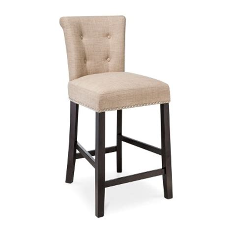 Scrollback With Nailhead Counter Stool Ave Six scrollback with nailhead trim 24 counter stool toast