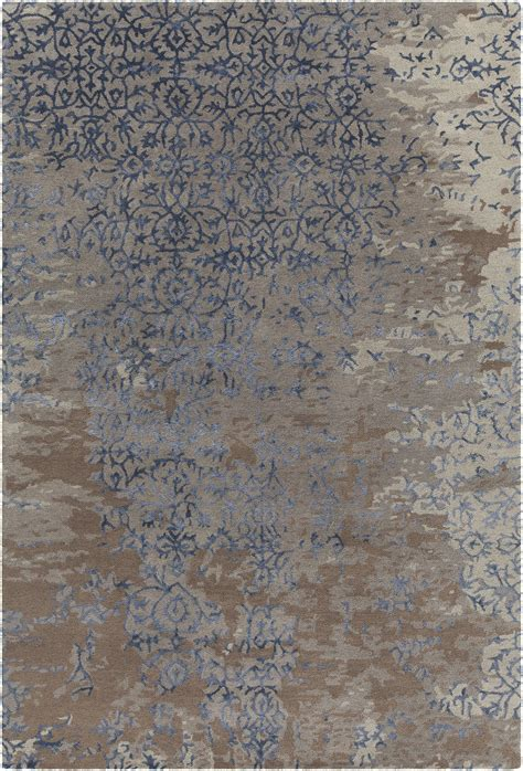 Rupec Collection Hand Tufted Area Rug In Grey Blue Blue Grey Brown Area Rug