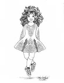 items similar to irish step dancer coloring page by karen