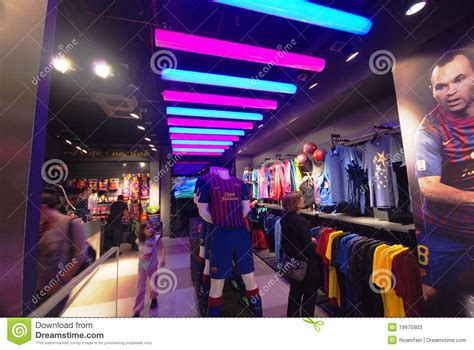 barcelona official store barcelona soccer official store editorial stock photo