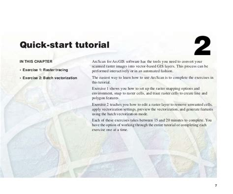 arcgis quick tutorial using arc scan for arcgis