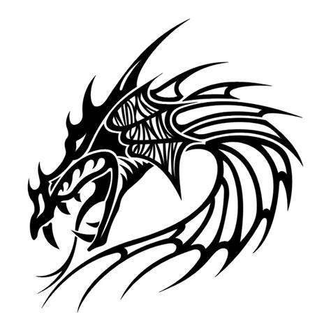 tribal dragon head tattoo picture inspiration 4 tribal tattoos