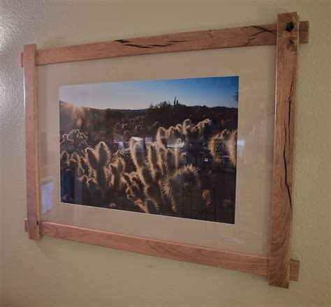 woodworking project a mesquite picture frame