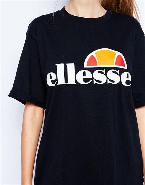 ellesse ellesse oversized boyfriend t shirt with front logo at asos