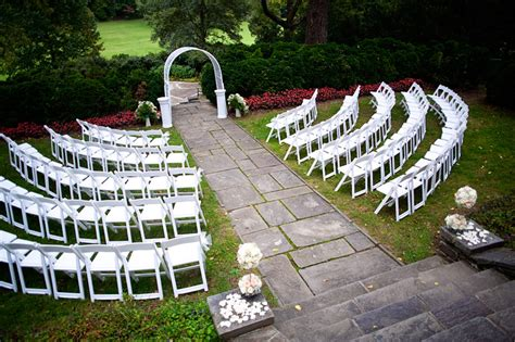 wedding ceremony layout chairs glenview mansion putting on the ritz
